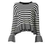 dropped shoulder striped jumper