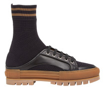 Sock-Sneakers mit Schnürung