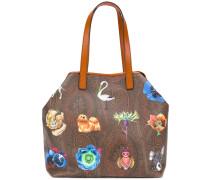 Große Handtasche mit Paisley-Muster