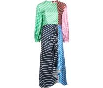 stripe panelled dress