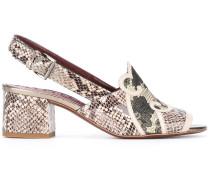 Sandalen mit Schlangenledereffekt - women