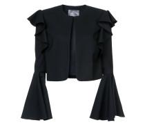 Cropped-Jacke mit Glockenärmeln