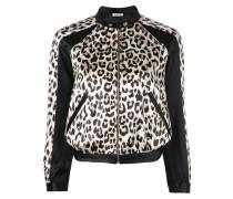 Cropped-Jacke mit Leoparden-Print - women