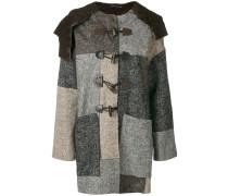 patchwork herringbone coat