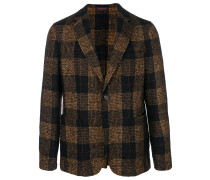 checked two button blazer