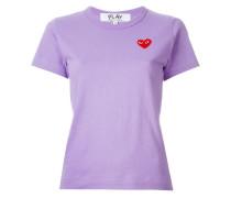 T-Shirt mit Herzstickerei - women - Baumwolle