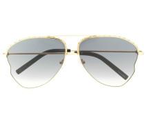 Pilotenbrille mit Kettenverzierung