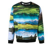Sweatshirt mit Landschafts-Print - men
