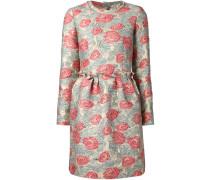 Jacquard-Kleid mit Rosenmuster