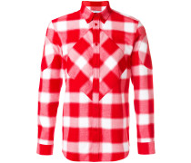 tartan shirt with graphic inserts