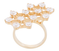 crystal double cluster ring