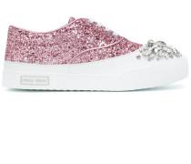 crystal glitter sneakers