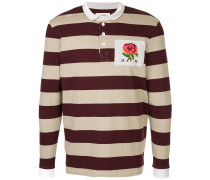embroidered rose polo shirt