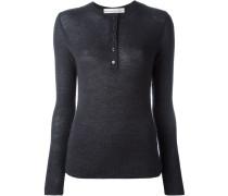 Pullover mit Henley-Kragen