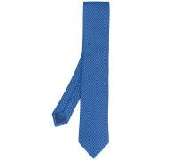 - classic embroidered tie - men - Seide