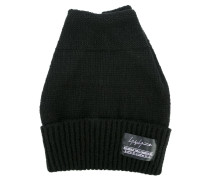 logo plaque knitted hat