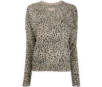 'Brume' Pullover mit Leo-Print