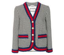 Tweed-Jacke mit Webstreifen