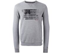 Sweatshirt mit Flaggen-Print