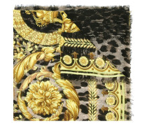 baroque leopard print scarf