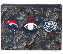 Clutch mit Logo-Patches - men