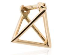Dreieckige 18kt Goldohrringe