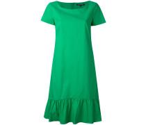 gathered hem flared dress - women - Baumwolle