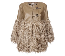 fur panelled coat
