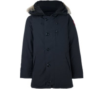 furred collar padded coat