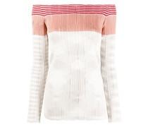 stripe-print knitted jumper
