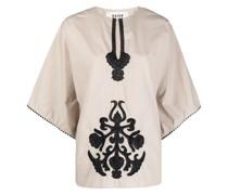 Bluse mit aufgesticktem Muster