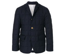 Downfilled Classic Single Breasted Sport Coat In Navy Super 130's Wool Twill