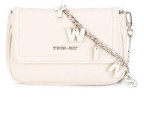 lettered chain crossbody bag