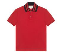 Poloshirt mit gestreifter Borte