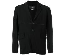 zip detail blazer