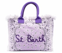 Vanity fringed tote bag