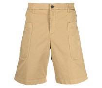 Knielange Mid-Rise-Shorts