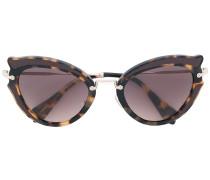 Cat-Eye-Sonnenbrille mit Schildpatt-Optik
