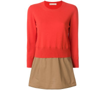 panelled peplum sweater