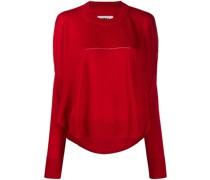 Pullover mit drapierter Rückseite