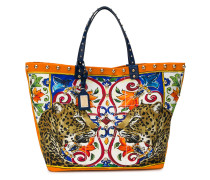 Beatrice animal print tote