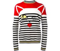 Gestreifter 'Cat Wink' Pullover - men