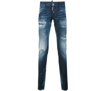 'Glam Head' Distressed-Jeans