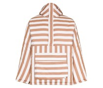 Gefütterte Jacke mit Streifen-Print