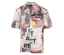 patch-work short sleeve shirt