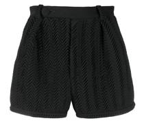 Shorts mit Zickzackmuster