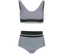printed hot pants bikini set