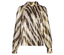 'Billie' Bluse mit Zebra-Print
