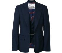 built-in waistcoat jacket