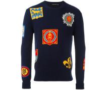 Intarsien-Pullover mit Abzeichen
